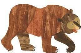 Tranh chú gấu xám dễ thương