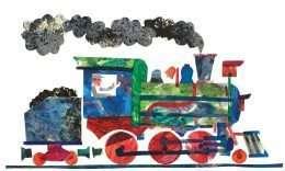 Bức tranh in đầu tàu hỏa đang chạy