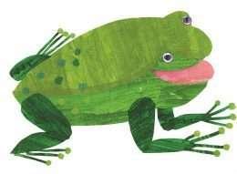 Tranh ếch màu xanh dễ thương