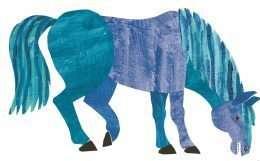 Tranh in ngựa đang ăn cỏ