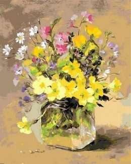 Tranh bình hoa cúc nghệ thuật