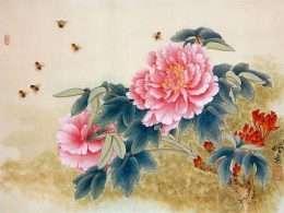 Tranh cành hoa và đàn ông