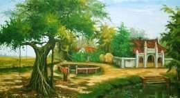 Tranh cây đa đầu làng