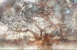 tranh trừu tượng cây thông thái