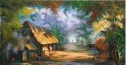 Tranh con đương nông thôn