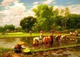Tranh Gặt Lúa