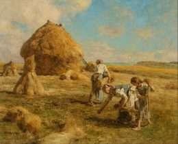 Tranh Gặt Lúa Đẹp