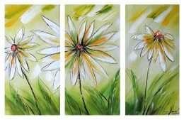 Tranh hoa nghệ thuật 3 mảnh 4-3022
