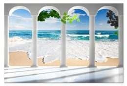 Tranh in phong cảnh cột và biển