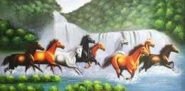 Tranh mã đáo thành công trên thác nước