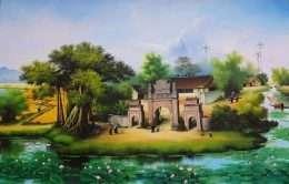 Tranh mái đình đầu làng