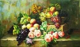 Tranh mùa xuân hoa quả