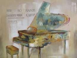 Tranh nghệ thuật đàn piano