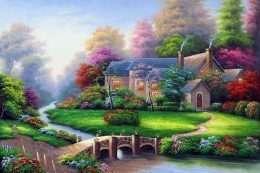 Tranh Ngôi Nhà Hạnh Phúc