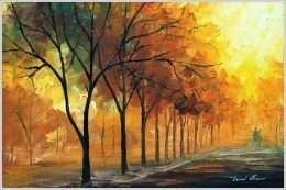 Tranh phong cảnh con đường mùa thu 1-33021