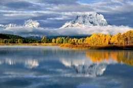 Tranh phong cảnh mặt hồ yên tĩnh