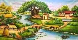Tranh phong cảnh sinh hoạt đồng quê
