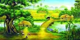 Tranh Trâu Và Đồng Lúa