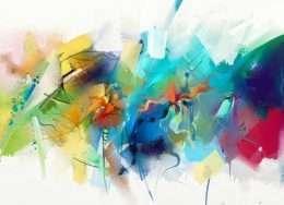 Bức tranh trừu tượng đầy màu sắc