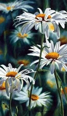 Tranh vườn hoa cúc 1-23049