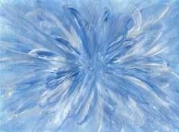 Hoa truu tuong mau xanh 4-18001
