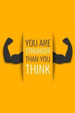 Tranh động lực You are stronger than you think 3-3185