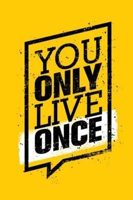 Tranh động lực You only live one 3-3186