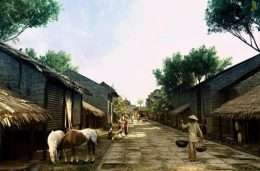 Tranh dan tuong co dien Ha noi xua 4 5-9007