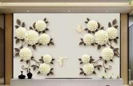 Tranh dan tuong hoa la Hoa trang nhe nhang 5-16018