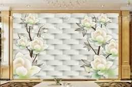 Tranh dan tuong hoa la hoa mai trang khoe sac 5-16010