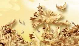 Tranh dieu khac hoa va dan chim 5-4014