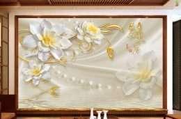 Tranh in 3D hoa mai no ro 5-1004