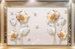 Tranh in 3D hoa mai trang 5-1006