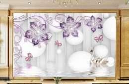 Tranh in 3D hoa tim 5-1010