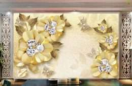 Tranh in 3D hoa vang no ro 5-1013