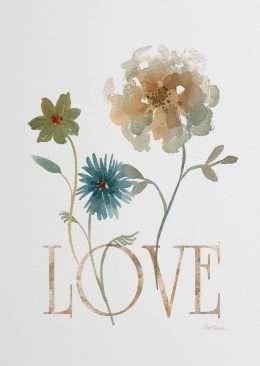 Tranh in canvas hoa tình yêu 4-1023