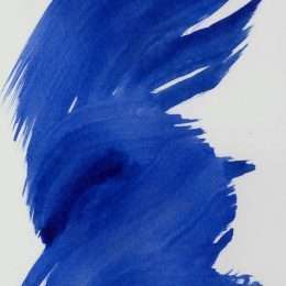Tranh in truu tuong vet nuoc mau xanh 4-18017