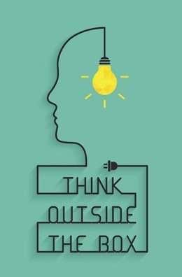 Tranh văn phòng Think outside the box 3-3193