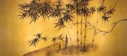 Tranh in nghệ thuật cây trúc và mai 4-5034