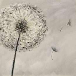 Tranh in nghệ thuật hoa bồ công anh 4-1016