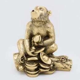 tượng phong thủy Khỉ màu đồng 7-5002