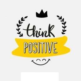 Tranh in think positive 3-3010