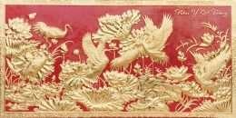 tranh dát vàng Cửu hạ du xuân 4-10006
