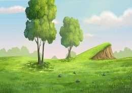 Tranh in đồi cỏ xanh ngát 4-3038