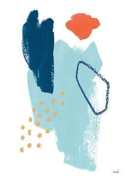 tranh in truu tuong hien dai mau xanh va do 4-13021