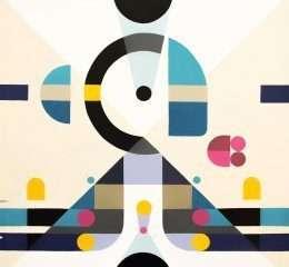 Bức tranh nghệ thuật các ô vuông tròn