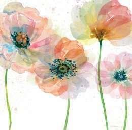 Tranh nghệ thuật hoa màu hồng 4-8056