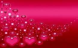 Tranh in nghệ thuật trái tim màu hồng 4-3040