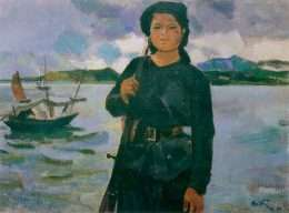 """""""Nữ dân quân miền biển"""" của Trần Văn Cẩn 1-9001"""