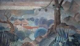 """Tranh sơn dầu """"Nhìn Từ Đỉnh Đồi"""" của họa sĩ Lê Phổ 1-9007"""